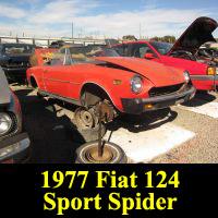 Junkyard 1977 Fiat 124 Sport Spider