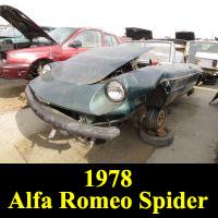 Junkyard 1978 Alfa Romeo Spider