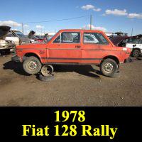 Junkyard Fiat 128 Rally
