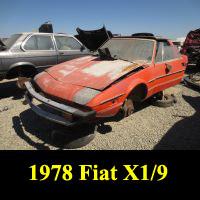Junkyard 1978 Fiat X1/9