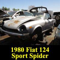 Junkyard 1980 Fiat 124 Sport Spider