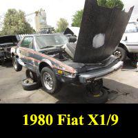 Junkyard 1980 Fiat X1/9