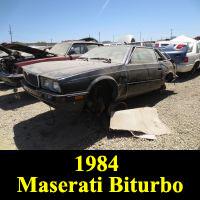 Junkyard 1984 Maserati Biturbo