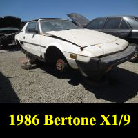 Junkyard 1986 Bertone X1/9