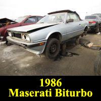 Junkyard 1986 Maserati Biturbo