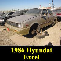 Junkyard 1986 Hyundai Excel