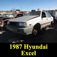 Junkyard 1987 Hyundai Excel