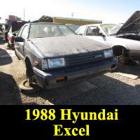 Junkyard 1988 Hyundai Excel