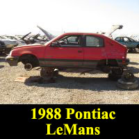 Junkyard 1988 Pontiac LeMans