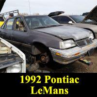 Junkyard 1992 Pontiac LeMans