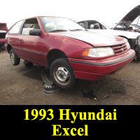 Junkyard 1993 Hyundai Excel
