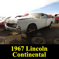 Junkyard 1967 Lincoln Continental