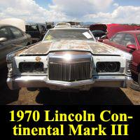 Junkyard 1970 Lincoln Continental Mark III