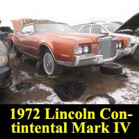 Junkyard 1972 Lincoln Continental Mark IV