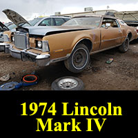 Junkyard 1974 Lincoln Continental Mark IV