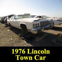 Junkyard 1976 Lincoln Continental Town Car