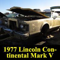 Junkyard 1977 Lincoln Continental Mark V