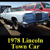 Junkyard 1978 Lincoln Town Car