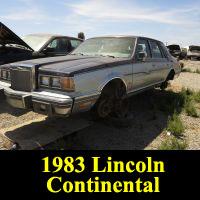 Junkyard 1983 Lincoln Continental