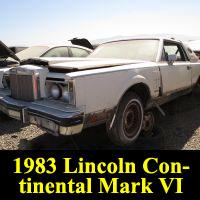 Junkyard 1983 Lincoln Continental Mark VI