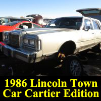 Junkyard 1986 Lincoln Town Car Cartier Series