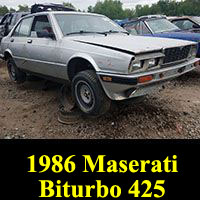 Junkyard 1986 Maserati 425 Biturbo