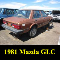 Junkyard 1981 Mazda GLC Sedan