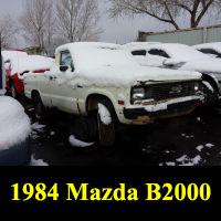 Junkyard 1984 Mazda B2000