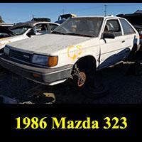 Junkyard 1986 Mazda 323