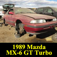 Junkyard 1989 Mazda MX-6 GT Turbo