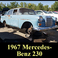 1967 Mercedes-Benz 230 in junkyard