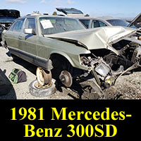 1981 Mercedes-Benz 300SD in California junkyard