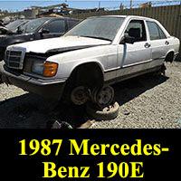 Junkyard 1987 Mercedes-Benz 190E