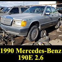Junkyard 1990 Mercedes-Benz 190E 2.6