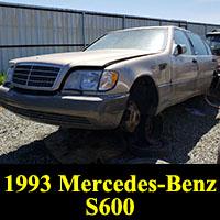 Junkyard 1993 Mercedes-Benz S500