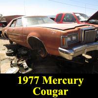 Junkyard 1977 Mercury Cougar Sedan