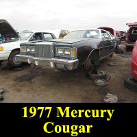 Junkyard 1977 Mercury Cougar