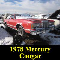 Junkyard 1978 Mercury Cougar