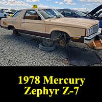 Junkyard 1978 Mercury Zephyr Z-7
