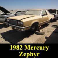 Junkyard 1982 Mercury Zephyr