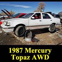 Junkyard 1987 Mercury Topaz AWD