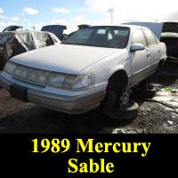 Junkyard 1989 Mercury Sable