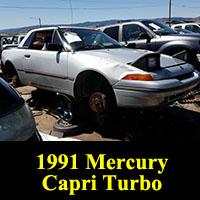 Junkyard 1991 Mercury Capri Turbo