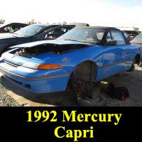Junkyard 1992 Mercury Capri