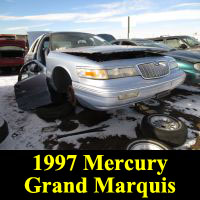 Junkyard 1997 Mercury Grand Marquis