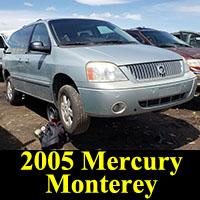 Junkyard 2005 Mercury Monterey