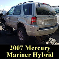 2007 Mercury Mariner Hybrid in junkyard