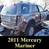 2011 Mercury Mariner in junkyard