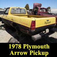 Junkyard 1978 Plymouth Arrow Pickup