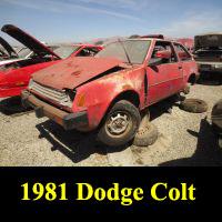 Junkyard 1981 Dodge Colt